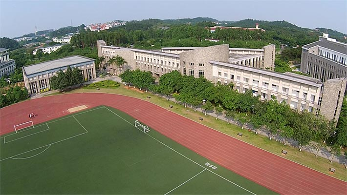 广东东软学院C座航拍