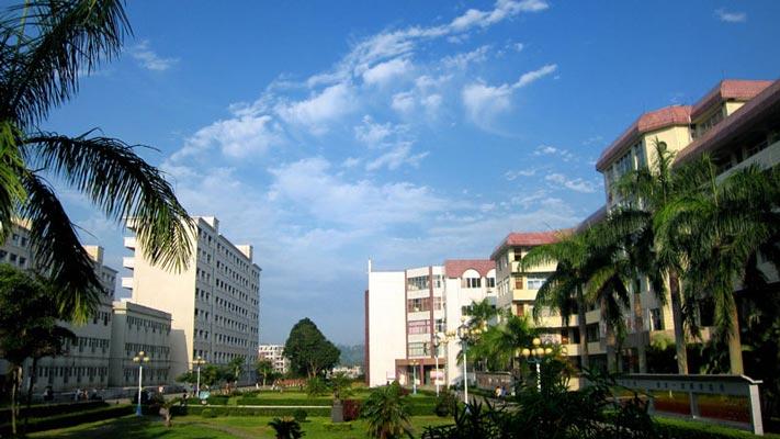 广东茂名幼儿师范专科学校环境优美的大学校园