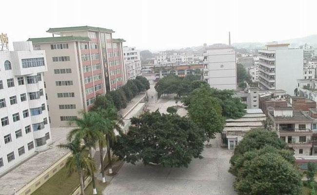 湛江幼儿师范专科学校校园俯视